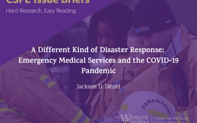 CSFE's new study on Paramedics and the Pandemic